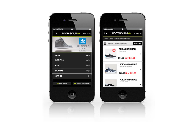 e-commerce mobile design